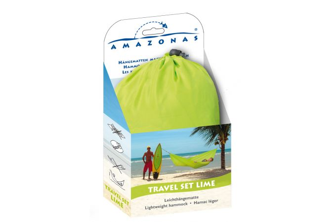 Reishangmat Eénpersoons 'Travelset' Lime