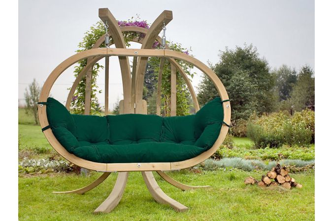 Hangstoel Tweepersoons 'Globo Royal' Weatherproof Green
