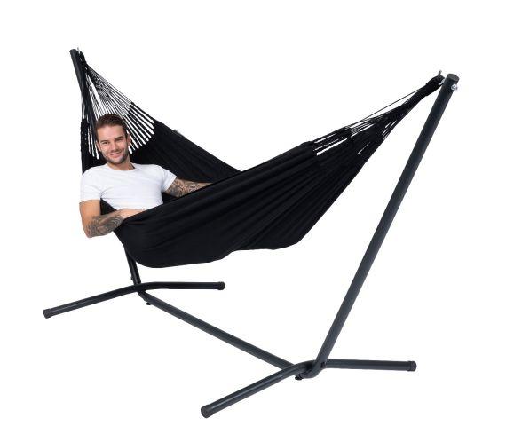 Hangmat met Standaard Eénpersoons 'Easy & Classic' Black