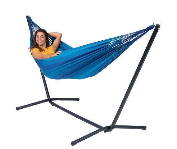 Hangmat met Standaard Eénpersoons 'Easy & Dream' Blue