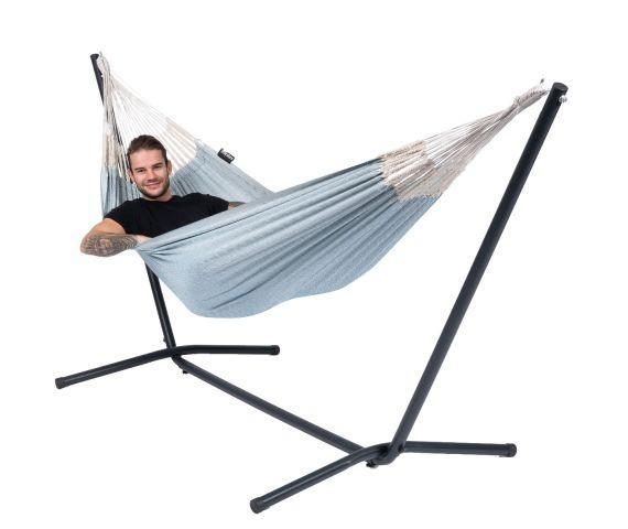 Hangmat met Standaard Eénpersoons 'Easy & Natural' Blue