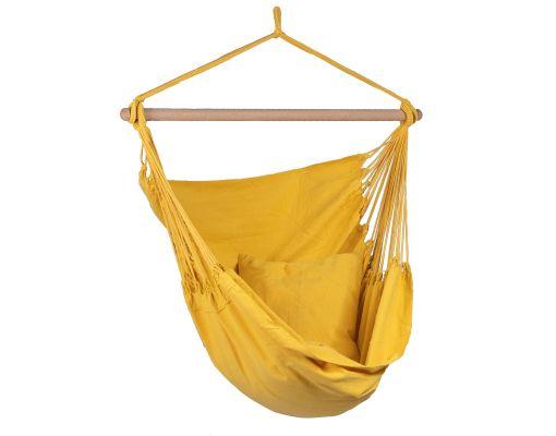 Hangstoel Eénpersoons 'Organic' Yellow