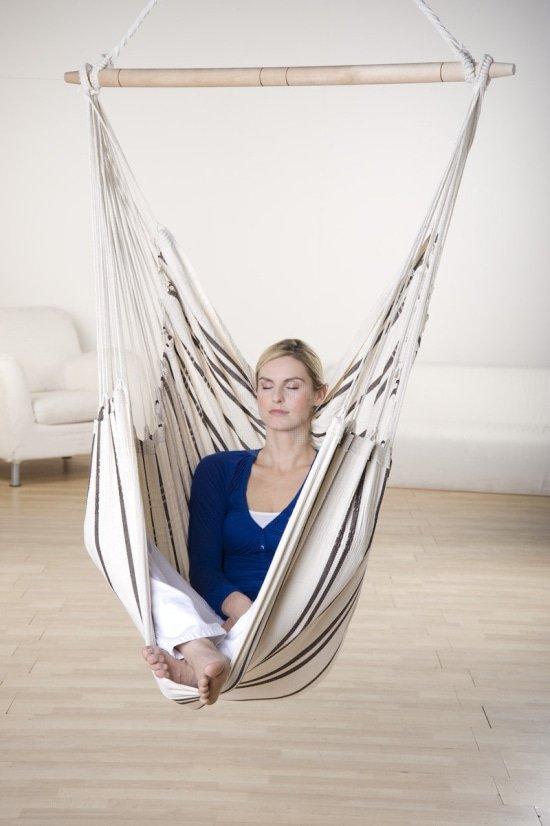 Mediteren in een hangstoel