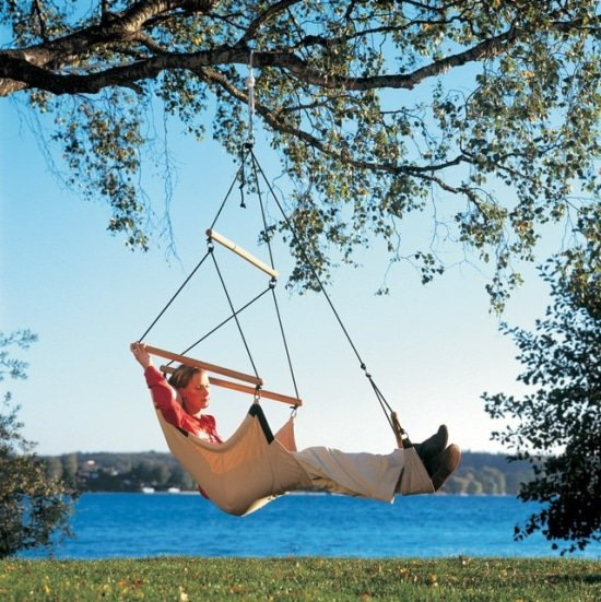 hangstoel swinger met voetensteun